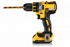 Cordless,Drill,,Screwdriver,With,Drill,Bit,On,White,Background